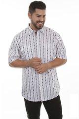 Short Sleeve Skull Stripe Shirt
