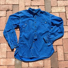 SOLD MISTER FREEDOM CALICO CHEMISE SHIRT in INDIGO 39