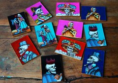 HAND PAINTED SKELETON MIRRORS