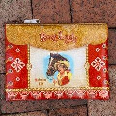 BOSS LADY COWGIRL TARP CLUTCH BAG