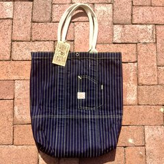 WABASH INDIGO DENIM STURDY TOTE BAG