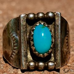 1920s ITTY BITTY SIDE SHIELD SILVER RING