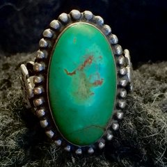 1920's THUNDERBIRDS TURQUOISE AMERICAN FRED HARVEY SILVER RING