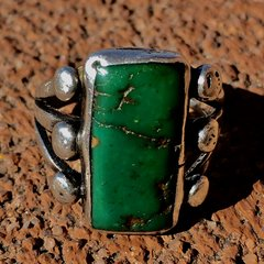 SOLD 1900s INGOT SILVER RECTANGLE CERILLOS SILVER RING
