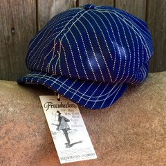 SOLD WABASH DENIM FREEWHEELERS NEWSBOY CAP