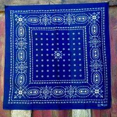 VINTAGE INDIGO BLUE BANDANNA # 4
