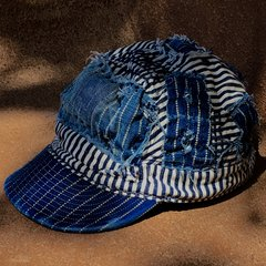 SHASHIKO BORO DEPRESSION ERA STRIPED & WABASH DENIM CAP