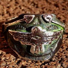 1910s APPLIQUE' & STAMPED ARROWS & THUNDERBIRD INGOT SILVER RING