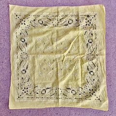 SOLD 1960s PALE YELLOW BANDANNA