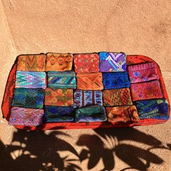 GUATEMALAN SMALL HAND EMBROIDERED FRONT HUIPIL BACK COTTON CHANGE PURSE