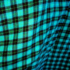 FLANNEL NEON TURQUOISE, NEON GREEN & BLACK PLAID TARTAN BIG SCARF