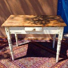 1830s RUSTIC PRIMITVE COUNTRY FARM PINE DESK TABLE
