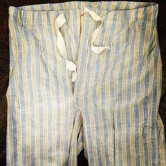 THIN 1940s FLANNEL CHAMBRAY LOUNGE PAJAMA THIN PANTS