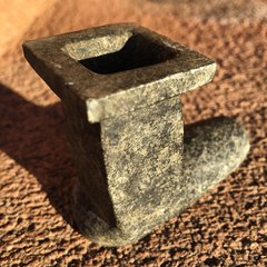 1800s SQUARE INNER BOWL STONE PEACE PIPE