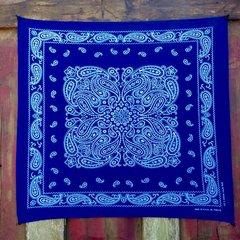 VINTAGE INDIGO BLUE BANDANNA # 3