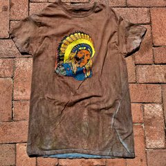 1970s INDIAN CHIEF AGED BUT NEW COTTON TSHIRT