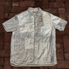 KAPITAL KOUNTRY SOLD ANTIQUE FABRIC BORO SHORT SLEEVED SHIRT