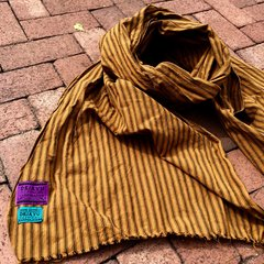 100% COTTON MARAKESH STRIPED YELLOW OCHREO SCARF