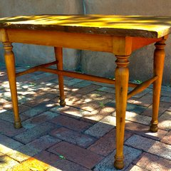 1840s STURDY PRIMITIVE PINE COFFEE TABLE FOOT REST