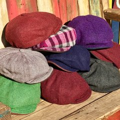 CLEARANCE OF - HARRIS TWEED WOOL HANDMADE IN ENGLAD NEWSBOY CAPS