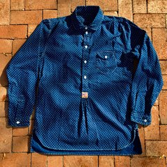 SOLD MISTER FREEDOM INDIGO POLKA DOT TWILL RENO SHIRT XL