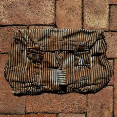 KAKISHIBU ON SHASHIKO BORO HANDSEWN DEPRESSION ERA OVERALLS (several pairs) DIED FOR THIS DAP BAG