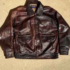 SOLD WW2 JAPANESE SNAP & ZIPPER LEATHER & CORDUROY BOMBER FLIGHT JACKET 40