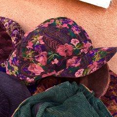 100% COTTON REVERSIBLE CORDUROY GIRL HAT with SECRET ZIPPERED POCKET