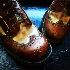 Vintage Preppy Clown Boots