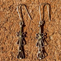 1900 WROUGHT ETHIOPIAN SILVER EARRINGS