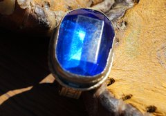 SOLD VINTAGE KUCHI TRIBE AFGHAN BLUE GYPSY RING