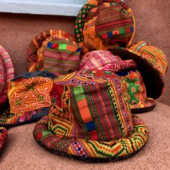 THAI HMONG HILLTRIBE VINTAGE COTTON TEXTILE PATCHWORK BUCKET HAT