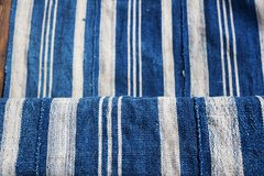 1 ANTIQUE AFRICAN INDIGO BORO PATCHED SCARF