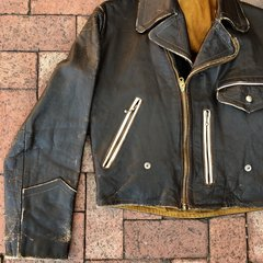 1950s GERMAN LEATHER BIKER JACKET 38