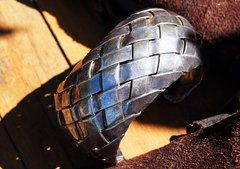 HUGE MEXICAN BASKET WOVEN HEAVY SILVER CUFF