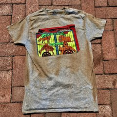 1970s SMALL ANIMAL CRACKERS GREY AGED BUT NEW COTTON TSHIRT