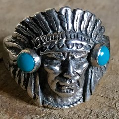 1950s SOLD INDIAN CHIEF HEAD RING