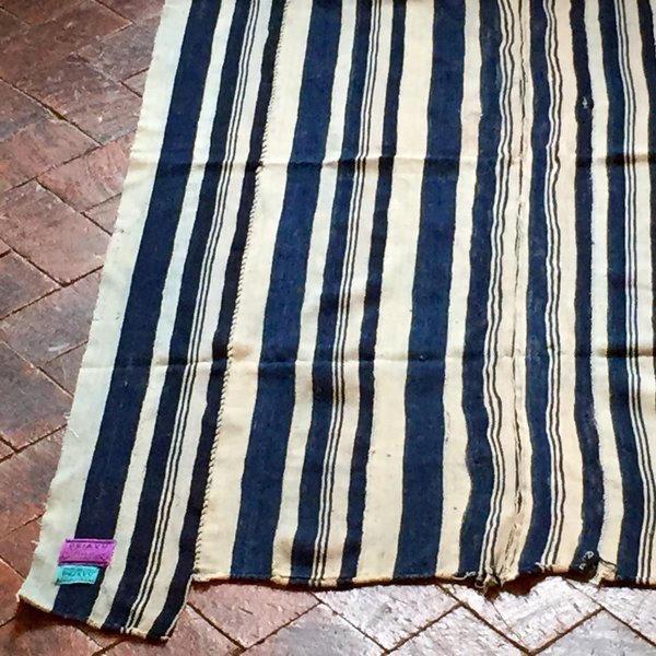 "30 INDIGO STRIPED 38"" X 59"""