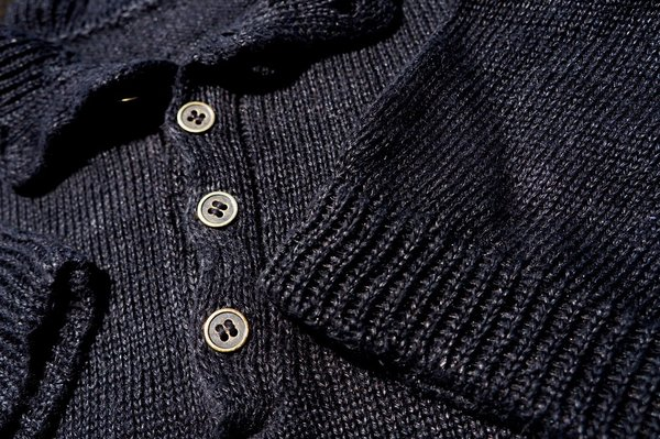SOLD OUT 100% LINEN HENLEY HANDKNIT in NEW YORK