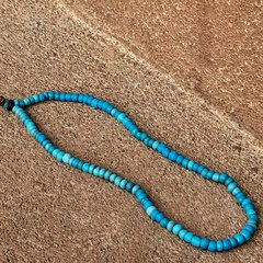 1750s BLUE AMERICAN GLASS PADRE FUR TRADE BEADS