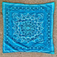 SOLD 1960s JAPANESE LIGHT BLUE BANDANNA