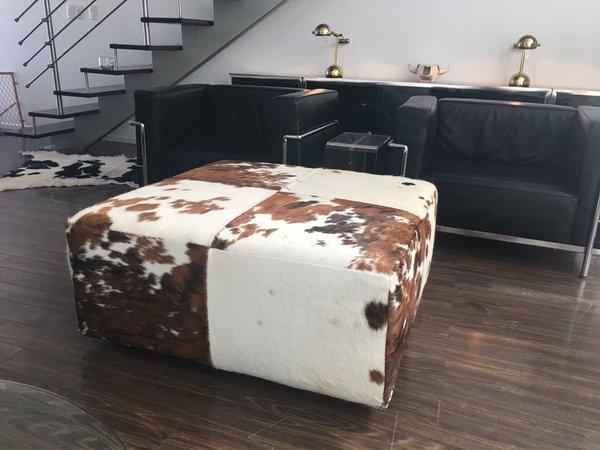 Brazilian Cowhide Ottoman Coffee Table- Be Sofia Luxury Ottoman - Etsy Ottoman Cowhide Ottoman Cowhide Furniture Be Sofia Be Sofia
