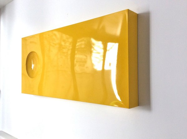 Yellow Wall Art Primrose Yellow Wall Sculpture Modernist Metal Wall Art Pop Art