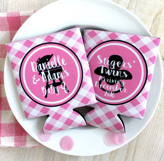 Baby Shower Koozies Baby Q Party Favors Baby Girl Shower