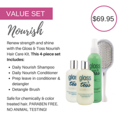 NOURISH Hair Care Value Set for Daily Care, Moisture, Protection & Style