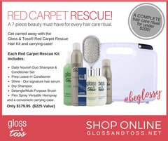 Red Carpet Rescue Hair Styling Kit for Smooth, Silky, Frizz Free Results