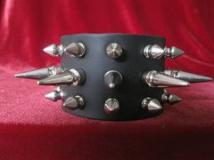 Spiked Wristband 143SLS With Long and Short Spikes