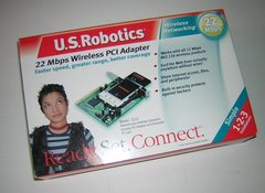 U.S. Robotics PCI Bus Adapter Card 2215 for PCMCIA Wireless Cards in Box