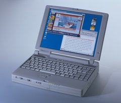 Toshiba Tecra 550CDT Laptop Notebook Computer P266MX 4GB Windows 98