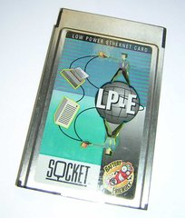 Socket Low Power Ethernet LP-E PCMCIA LAN PC Card + Cable